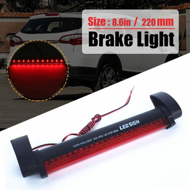 Car Red 24LED 12V High Mount Third 3RD CHMSL Brake Stop Tail Light Add-on  RAC