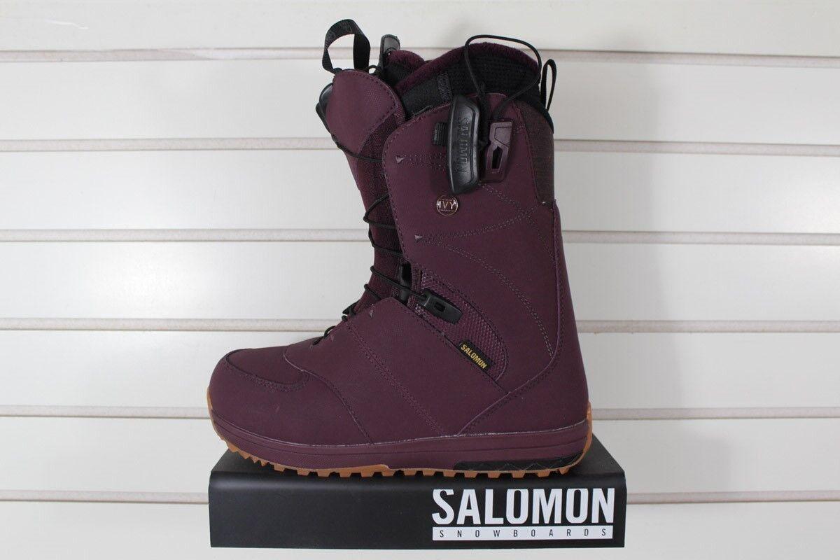 c668d82bc81 New 2018 Ivy Snowboard Boots Womens Bordeaux Salomon 7.5 pfpyyh6208 ...