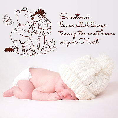 Winnie The Pooh Wall Large Sticker Quote Kids Bedroom Baby Nursery