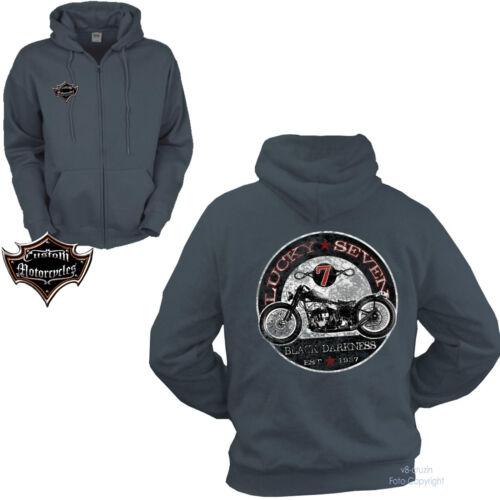 * Giacca Zip Biker Giacca Moto Custom Oldtimer hoodie VINTAGE BIKE 4051