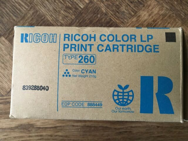 RICOH COLOUR LP PRINT CARTRIDGE TYPE 260 BLUE 888449
