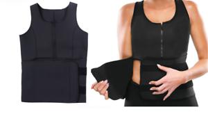 New Underbust Corset Waist entraîneur Sauna Sweat Body Shaper Vest Top With Zip