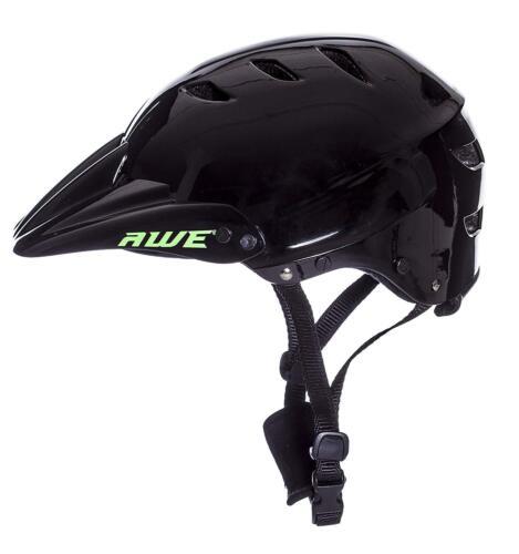 AWE® BMX Casque Complet Noir Taille Moyenne 54-58 cm