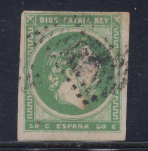 ESPANA-1875-USADO-SPAIN-EDIFIL-160-50-cts-CARLOS-VII