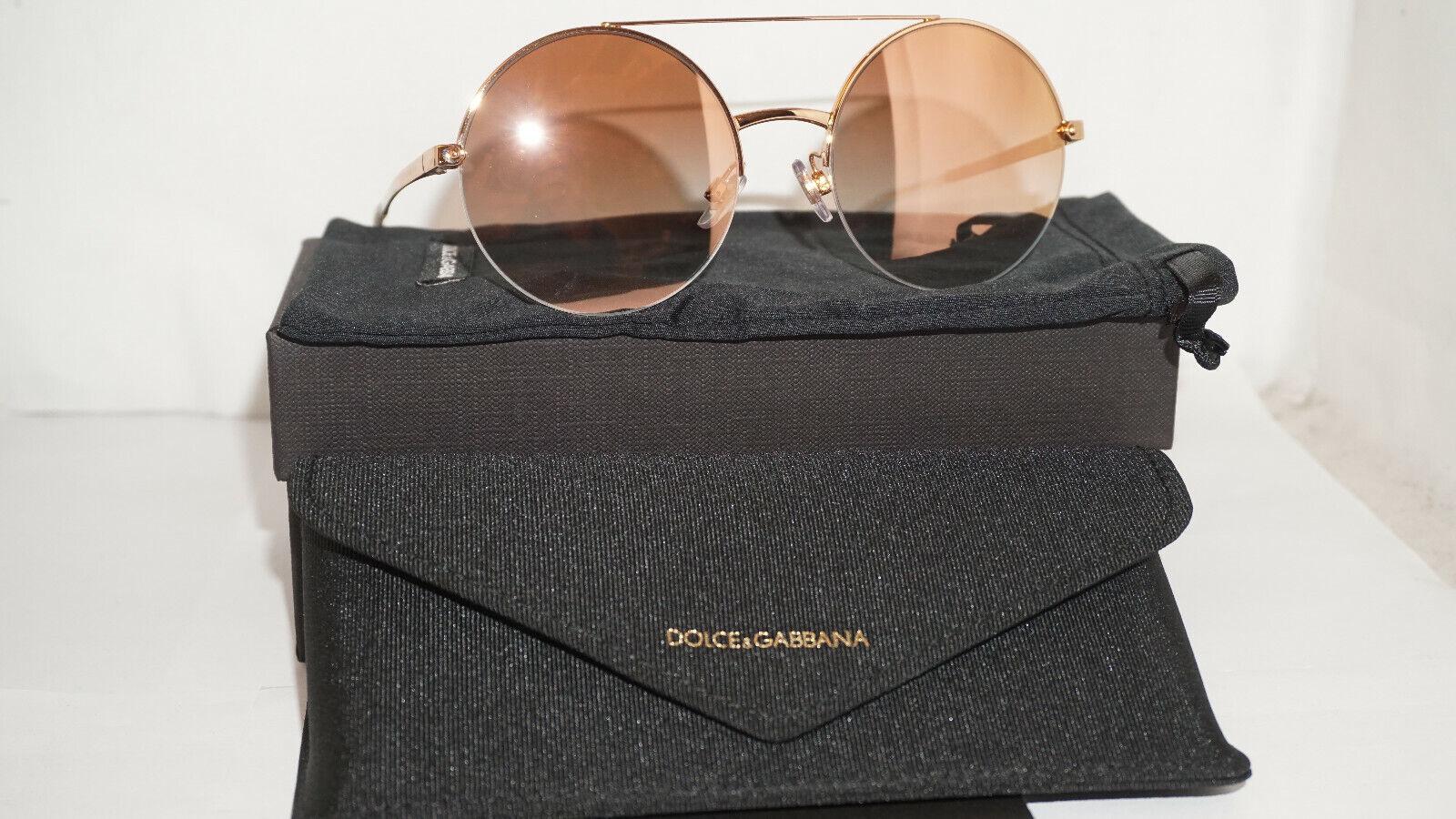 Dolce & Gabbana D&G New Sunglasse Round Pink Gold Mirror DG2237 12986F 54 19 140