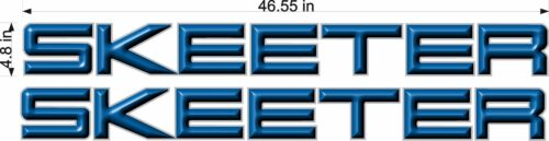"PAIR 46/"" BLUE Vinyl Vehicle Watercraft Decal Sticker SKEETER Boats 3D Logos"