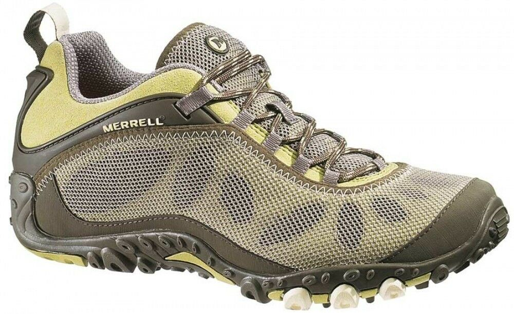 MERRELL CHAMELEON ARC PURE OLIVE/LIME Donna 9.5 LOW HIKING CROSS TRAINING SHOES