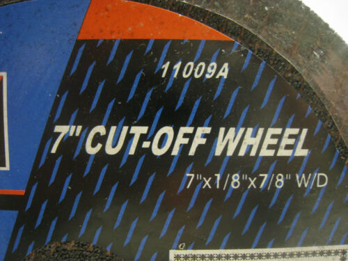 """Neiko 7/"""" **4 PACK** Cut-Off Wheel for Metal 5//8/"""" Arbor with diamond knock-out"""