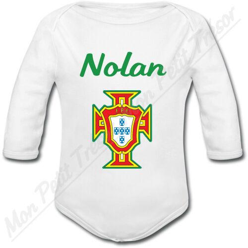 naissance garçon Body Bébé Croix Portugaise Portugal avec prénom personnalisé