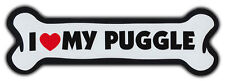Giant Size! Dog Bone Magnet: I Love My Puggle   Cars, Trucks, Refrigerators