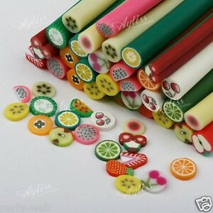 10pcs-3D-Nail-Art-Fimo-Canes-Stick-Rods-Polymer-Clay-Stickers-Tips-Decoration-PW