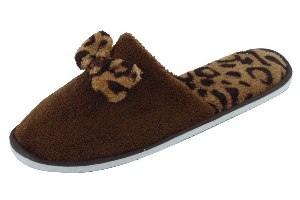 New Women/Juniors Star Bay House Slippers Brown Size S 5-6