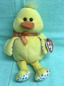 """TY Original Beanie Baby DUCKERS Duck 8"""" Plush Stuffed Animal 2008 NEW"""