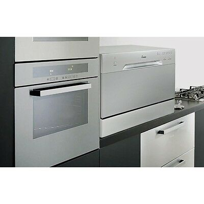 Countertop Dishwasher Silver Portable Compact Energy Star Apartment Dish Washer