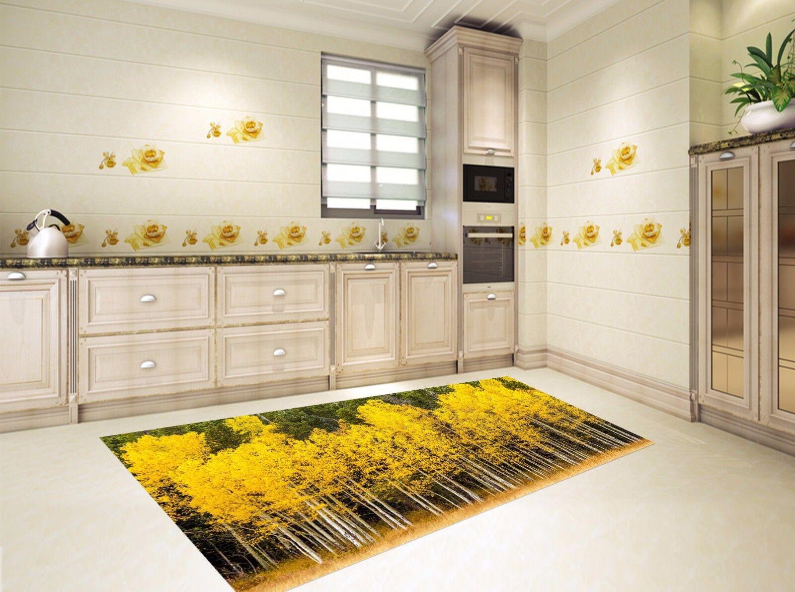 3D Gelb Woods 88 Kitchen Mat Floor Murals Wall Print Wall Deco UK Carly