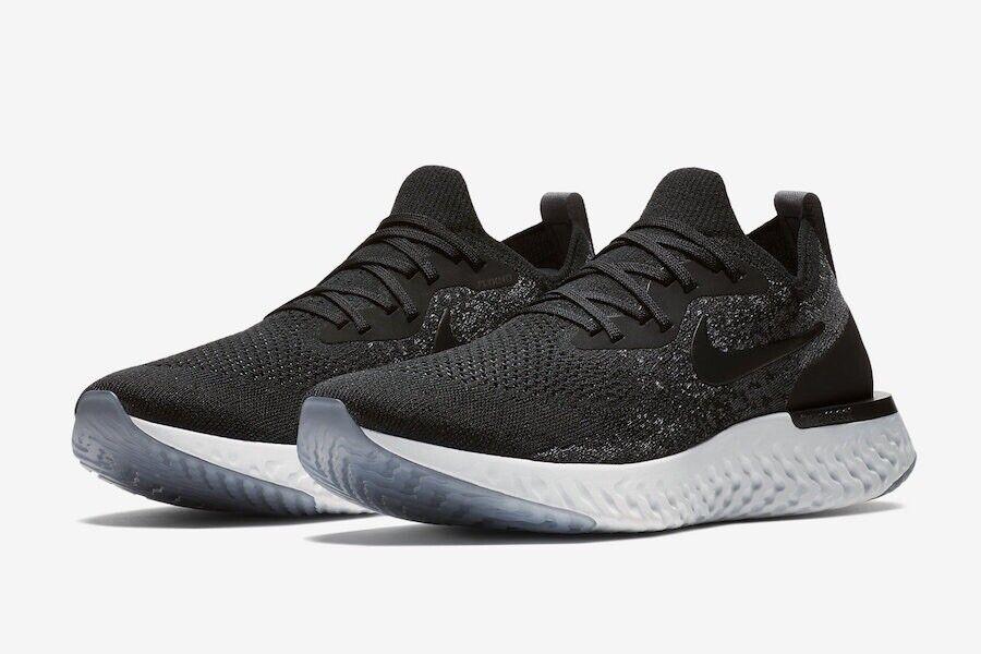 Nike Men Epic React Flyknit Running shoes Black   Grey MENS Sz 6.5 AQ0067 001