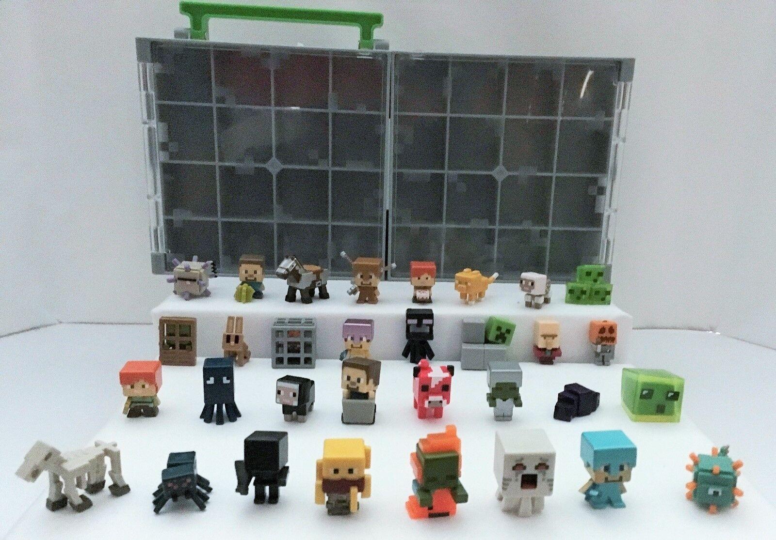 Mindcraft Mini Figuras Serie 3 y 4 Con Estuche