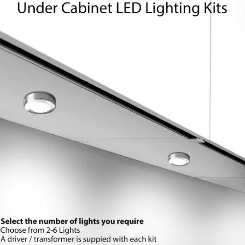 DEL 2.6 W Cuisine Rond Spot Light /& Driver Kits-Finition Chrome-Blanc Naturel