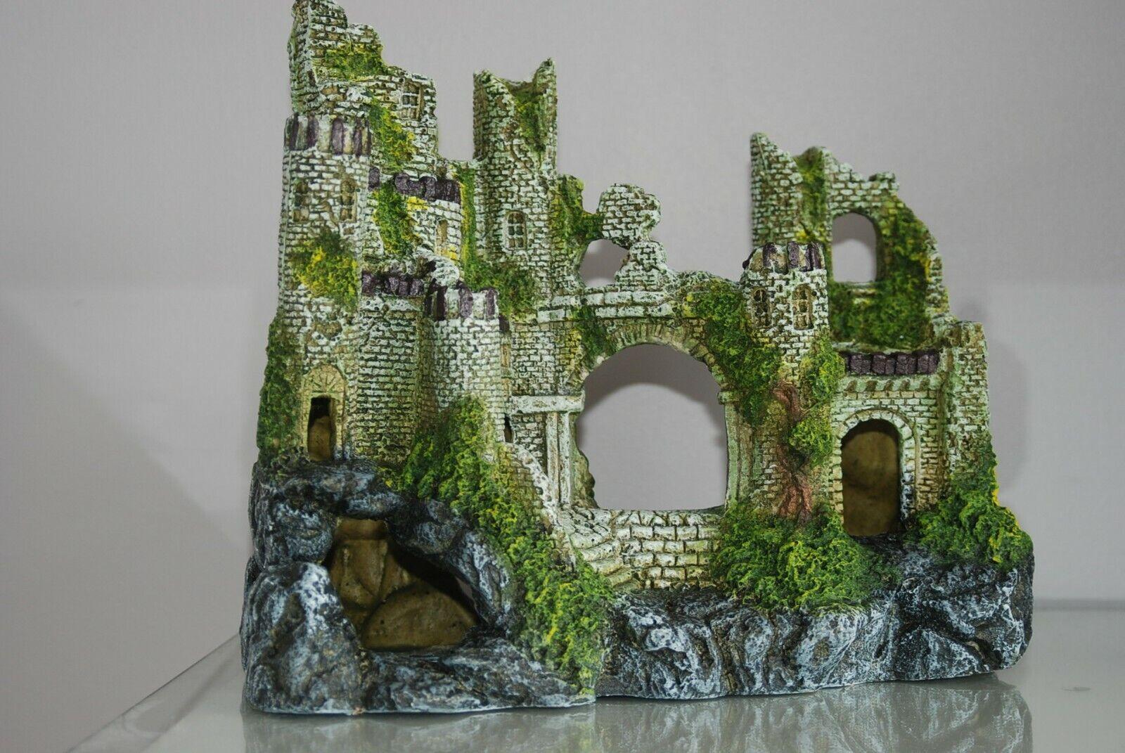 Atemberaubend Groß Alt Ruine Alter Burg Ruine 30 X 25 X 13 CM