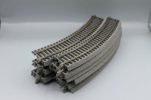 12 x Piko 55412  A-Gleis gebogenes Gleis mit Bettung R2 422 mm 30°
