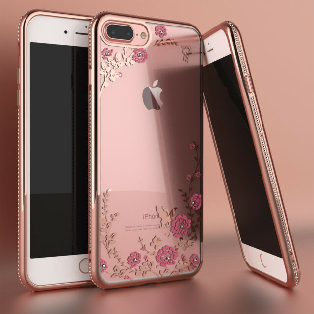 Iphone 7 Plus Case Doujiaz Gray Rose Gold Marble Design Clear Bumper Tpu Soft For Sale Online Ebay