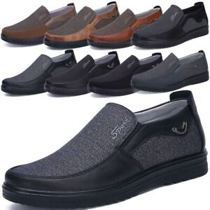 Men-039-s-Summer-Leather-Casual-Slip-On-Shoes-Breathable-Antiskid-Loafers-Moccasins