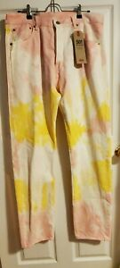 Levis-Mens-Premium-501-93-Straight-Jeans-Tie-Dye-Tagged-34X34-Actual-36X34-New