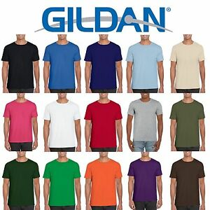 39669e4a 25 Pack Gildan Softstyle Cotton Plain Womens Mens T Shirts Wholesale ...