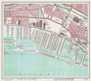 Canada Dock Liverpool 1928 Series Sheet 12 Large Map Reprint eBay
