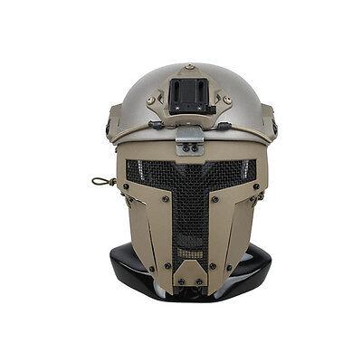 CB Quality Airsoft SPT Mesh Full Face Mask Sparta Tactical Mask AF Helmet Mask
