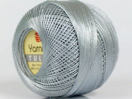 Silver YarnArt Tulip Size 10 Microfiber Thread 17311 50g 273y XStitch Crochet