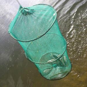 2-Layer-Crab-Fish-Shrimp-Minnow-Fishing-Bait-Trap-Cast-Dip-F0T1-Cage-Folda-E8V1