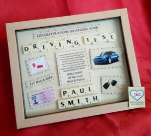 DRIVING TEST Congratulations PERSONALISED GIFT Frame Picture Keepsake NEW DRIVER