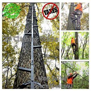 Tree Stand 20 Climbing Sticks Hunting Ladder Deer