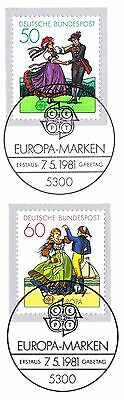Brd 1981: Europa: Folklore Nr 1096+1097 Mit Bonner Ersttags-sonderstempel 1a 154