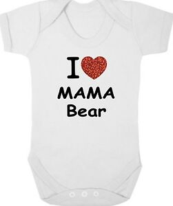 "éNergique I Love Mama Bear New Body/croissance/gilet/ange, Nouveau-né Cadeau, Baby Shower, Momie-vest/romper, Newborn Gift, Baby Shower, Mummy"" afficher Le Titre D'origine Avec Des MéThodes Traditionn"