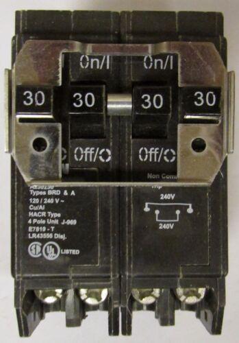 EATON CUTLER HAMMER BQ230230 Double 2Pole 30Amp Type BR Quadplex Circuit Breaker
