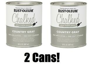 2 Rust Oleum 285141 30 Oz Country Gray Ultra Matte Chalked Paint Ebay