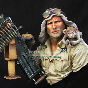 1-10-Unpainted-Resin-Soldier-Bust-Model-unassembled-Figure-Garage-Kits-Statue