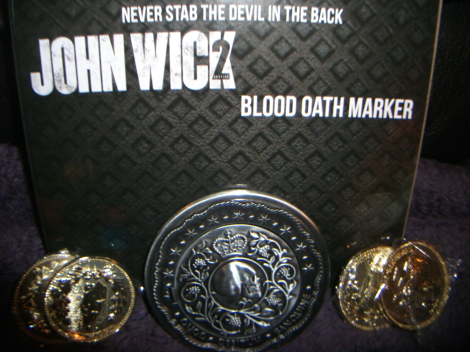 John Wick 2 Blood Oath Marker 1 1 Official Movie Replica Set OFFICIALLY LICENSED