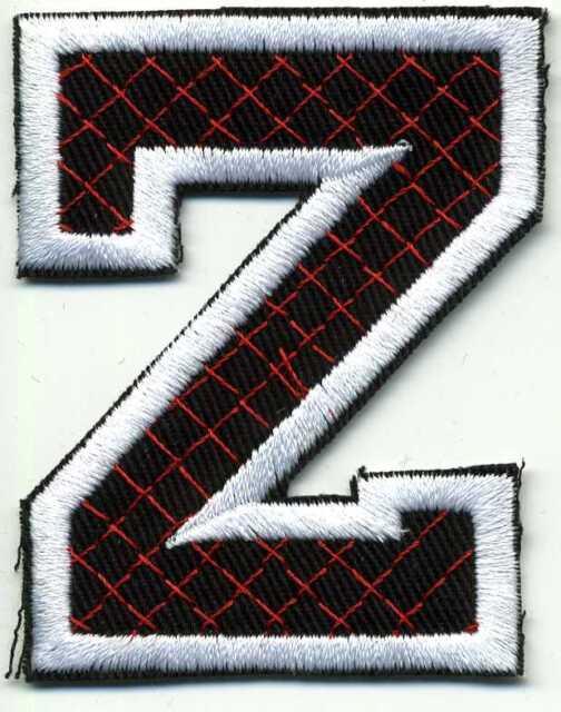 Aufnäher Applikation Stick-Emblem Buchstaben nähen 6 cm • Buchstabe Z ☆21551☆