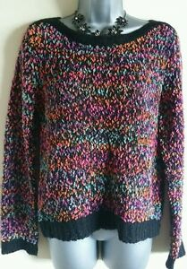 Size-8-Jumper-GLAMOROUS-Wool-Blend-Pink-Green-Blue-Black-Casual-Fit-Soft-Knit