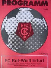 Programm 1989/90 HFC Chemie - RW Erfurt