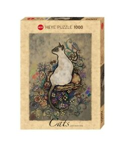 (HY29610) - Heye Puzzles - 1000 Pc - Cats Siamese