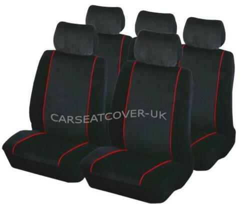 Luxury BLK//RED Car Seat Covers Protectors Vauxhall Meriva Full Set