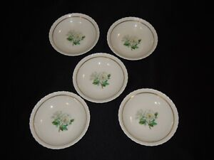 5-Hanover-China-Silver-Rose-5-1-8-034-Small-Sauce-Berry-Bowls
