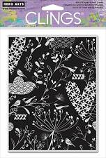 Hero Arts Cling Rubber Stamps - Heart Leaf Background