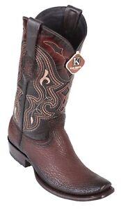 c0346422ed7 Details about Men's King Exotic Genuine Shark Skin Western Boots Dubai  Square Toe Handmade