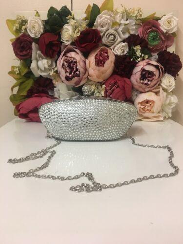 Claudia Schiffer Sequin Clutch Argento Oscar Bag Accessorize dqS5WOcd