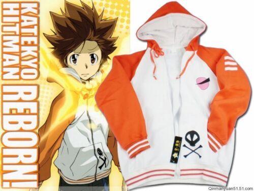 Katekyo Hitman Reborn Sawada Tsunayoshi Cosplay Costume Unisex Hoodie